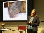 "Poet Alyson Hallett discusses her ""Migrating Stones"" project"