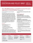 No.3, January 2011: The PROMISE Model: An English-Learner Focused Approach to School Reform