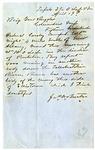 Confederate Espionage Letter to General Daniel Ruggles