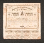 One Thousand Dollar Confederate War Bond, issued in Richmond, VA on February 20, 1863
