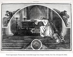 Wood engraving mourning the death of President Lincoln