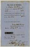Confederate slave impressment receipt from Alabama (1863)