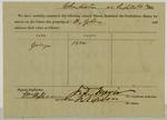 Confederate slave impressment receipt (1863)