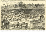 Illustration of Andersonville Prison (1864)