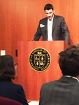 Eric Pittaluga speaks at Undergraduate Research Symposium image 2