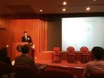Joseph Berg speaks at the Undergraduate Research Symposium image 1