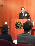 Joseph Berg speaks at the Undergraduate Research Symposium image 2