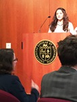 Kassandra Velasquez speaks at Undergraduate Research Symposium image 1