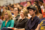 Audience members at Dave Eggers talk