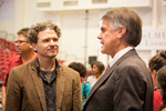 Dave Eggers speaks with LMU President David Burcham