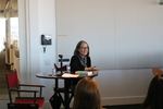 Ruth Ozeki speaks with students in the 2016 Bellarmine Forum seminar courses