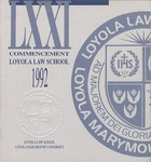 71st Annual Commencement by Loyola Law School Los Angeles