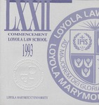 72nd Annual Commencement by Loyola Law School Los Angeles