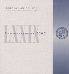 79th Annual Commencement by Loyola Law School Los Angeles