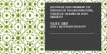 Building an Ignatian Ummah: The Experience of Muslim International Students at a U.S. Jesuit University by Csilla Samay