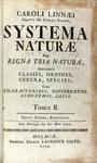 <em>Systema Naturæ</em> by Carl Linnaeus, 1758-59