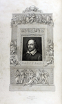 Illustration of Shakespeare from <em>The Dramatic Works and Poems of William Shakespeare</em>, 1837