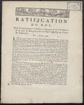 Ratification Du Roi (1766) 1