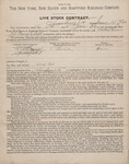 Livestock Contract (New York) 1903 1