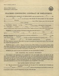 Teacher's contract of Employment (West Virginia) 1940 1