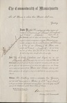 Oath of office for Justice of the Peace Massachusetts 1865 1