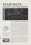 Marmon Ad for Coupe Roadster