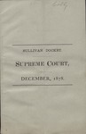 Sullivan County Supreme Court Docket (1878) 1