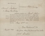 Certification Regarding Juror Allowance NY (1843)