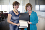 Dean Kris Brancolini Presents Award to Rachel Napierkowski