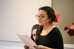 Student performing at Women's Voices of Early California